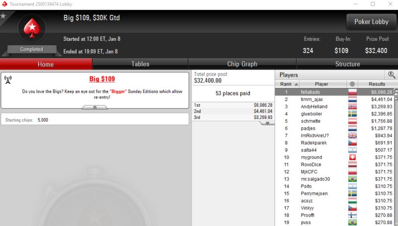Big 109 - PokerStars