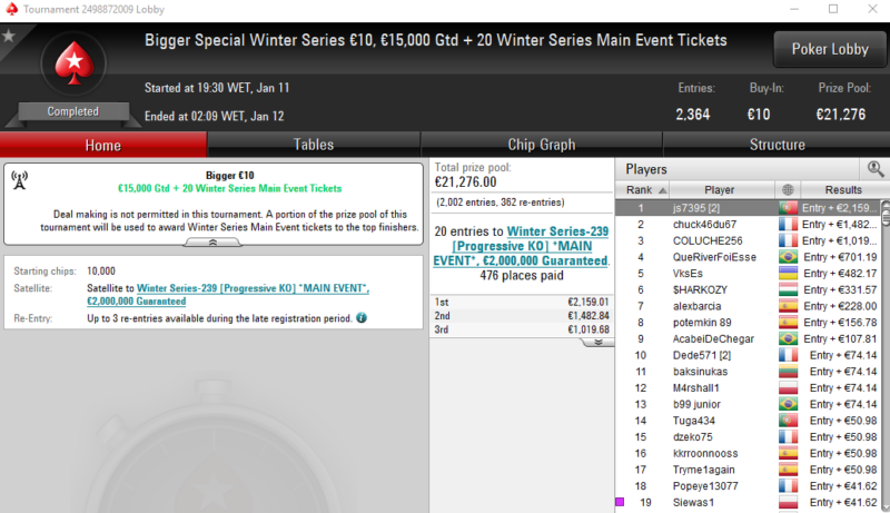 Bigger Special 10 WS - PokerStars