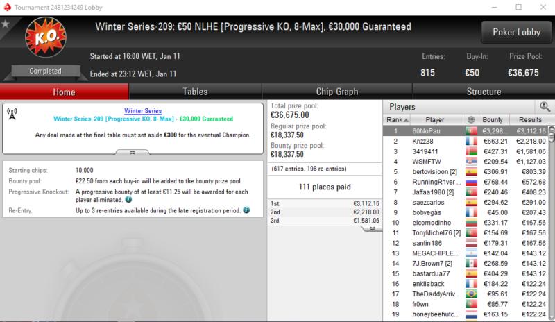 Winter Series 209 - PokerStars