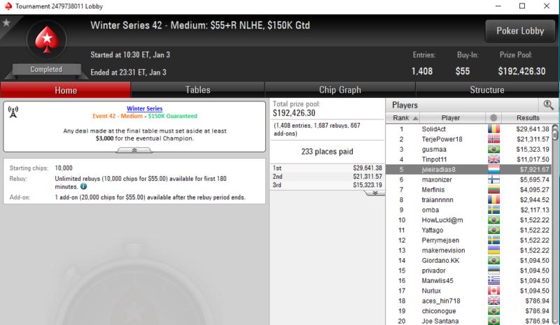Winter Series 42 Medium - PokerStars