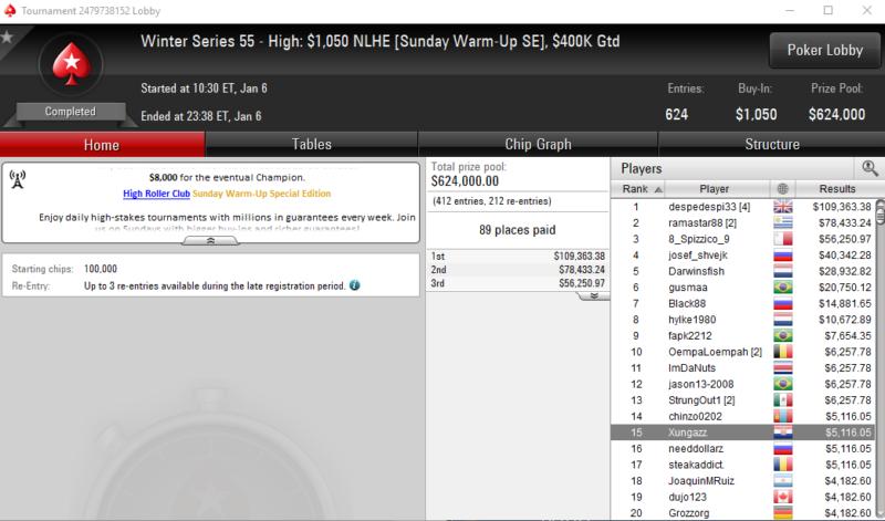 Winter Series 55 High - PokerStars