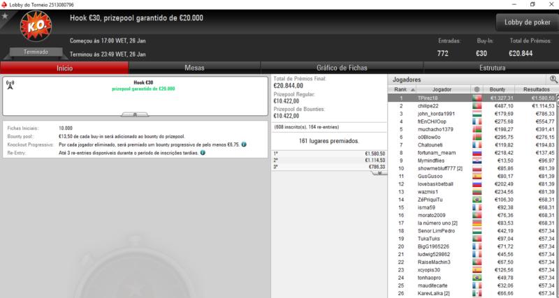 Hook €30 - PokerStars