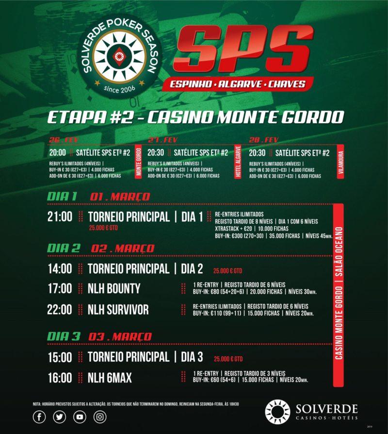 Programa 2ª Etapa Solverde Poker Season