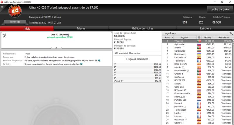 Ultra KO €20 - PokerStars