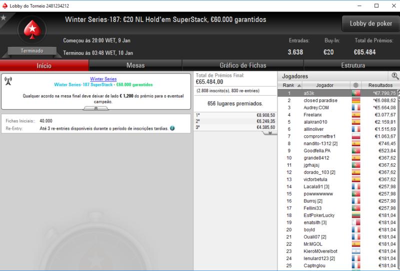Winter Series 187 - PokerStars