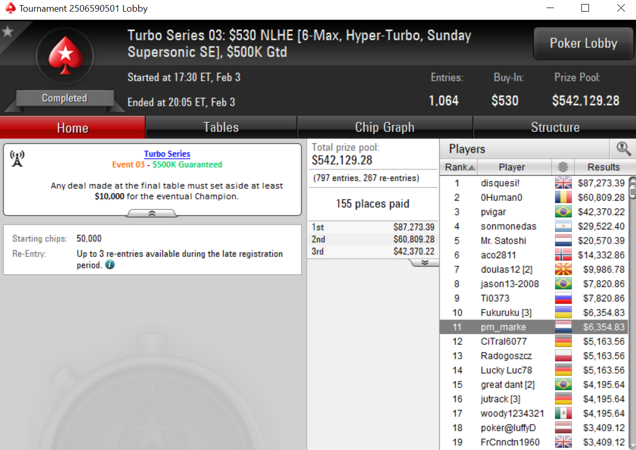 Turbo Series #03 PokerStars