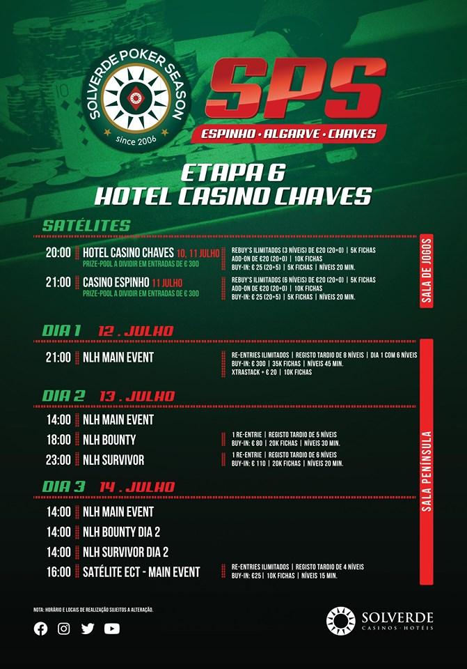 Solverde Poker Season Etapa 6 calendário