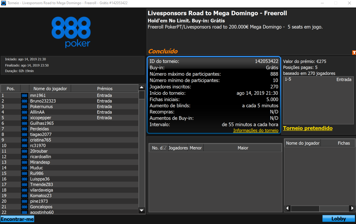 Freeroll da 888poker