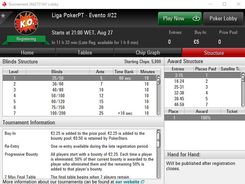 Liga PokerPT #22
