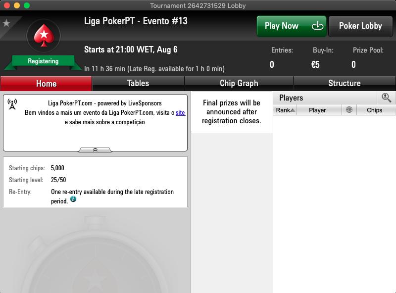 liga pokerpt.com 6 agosto 2019