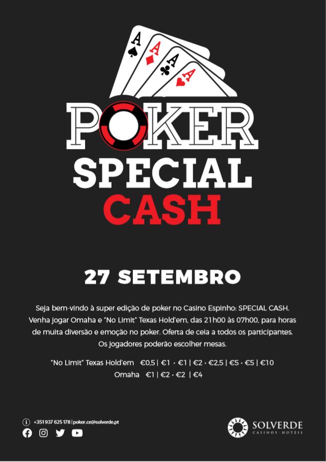 Poker Special Cash - 27 de Setembro Casino Espinho