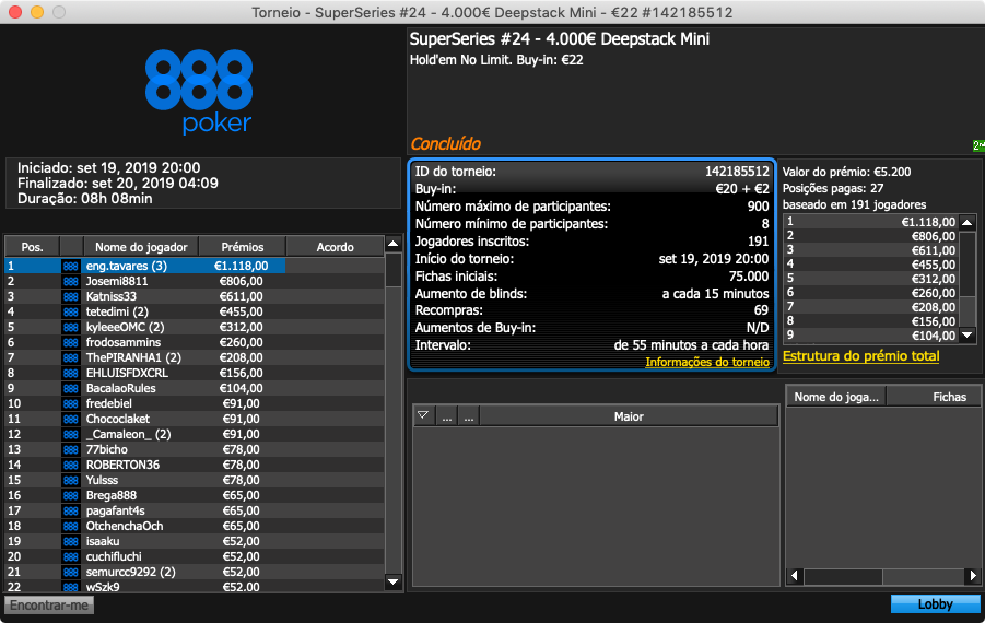 eng.tavares superseries 888poker
