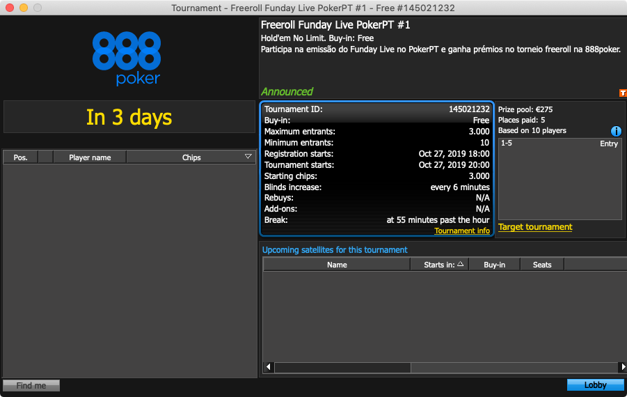 Freeroll Funday Live #1