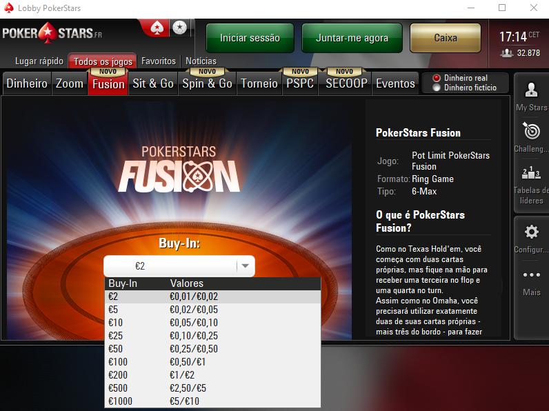 Fusion na PokerStars.FR