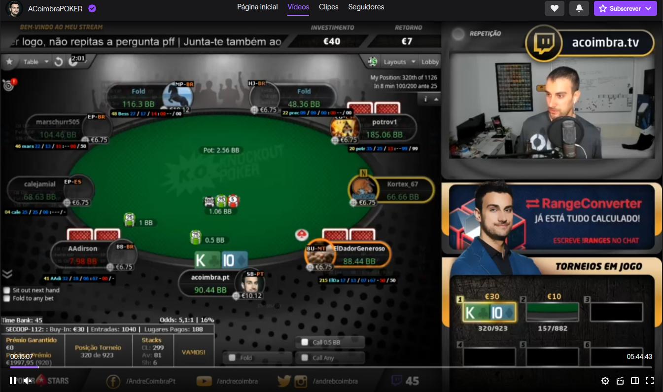 André Coimbra - Streamer de poker do Twitch