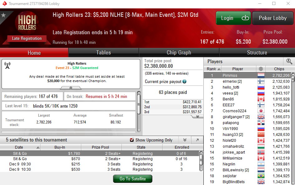 Main Event do High Rollers