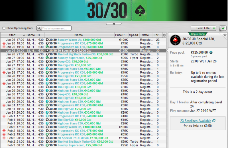 30/30 PokerStars FRESPT
