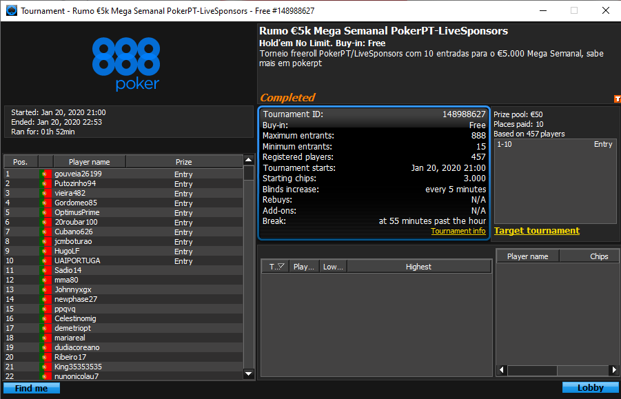 Rumo $5K Mega Semana PokerPt-LiveSponsors
