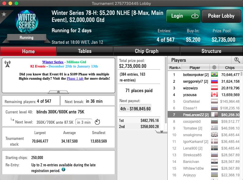 main event winter series pokerstars.com