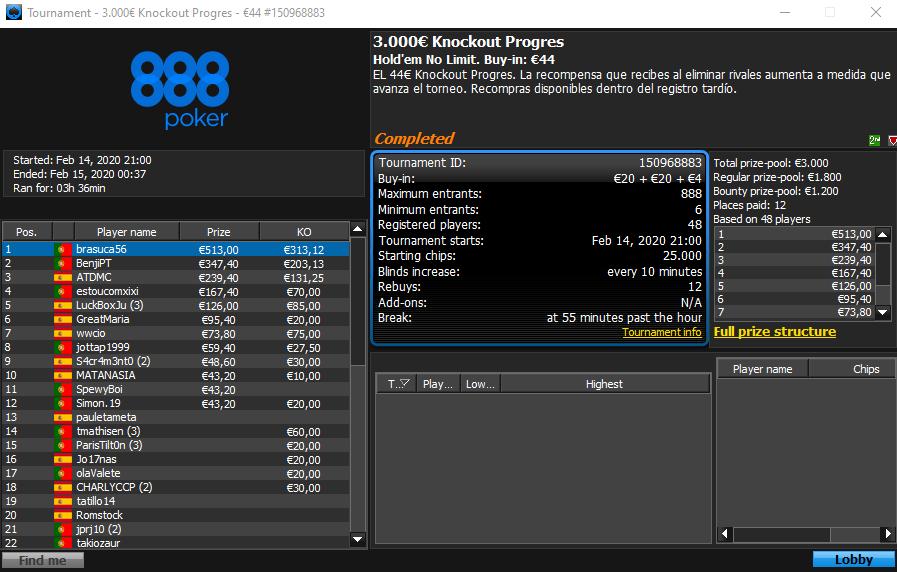 3.000 Knockout Progres
