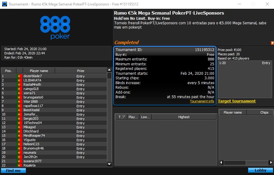 $5k Rumo Mega Semanal PokerPT-LiveSponsors