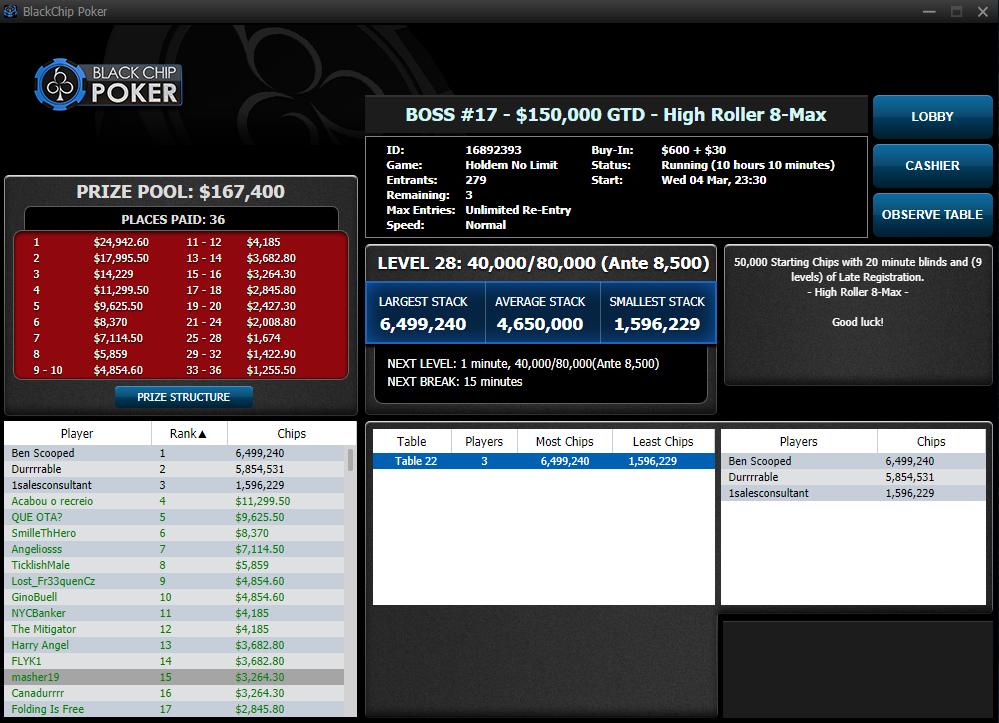 BOSS #17 - $150000 - High Roller 8-Max - WPN