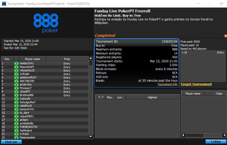 Funday Live PokerPT Freeroll