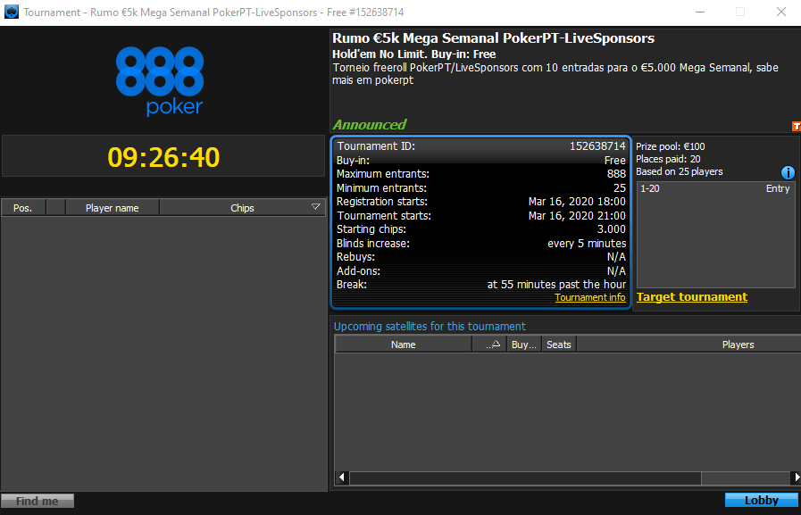 Rumo €5k Mega Semanal PokerPt-LiveSponosrs