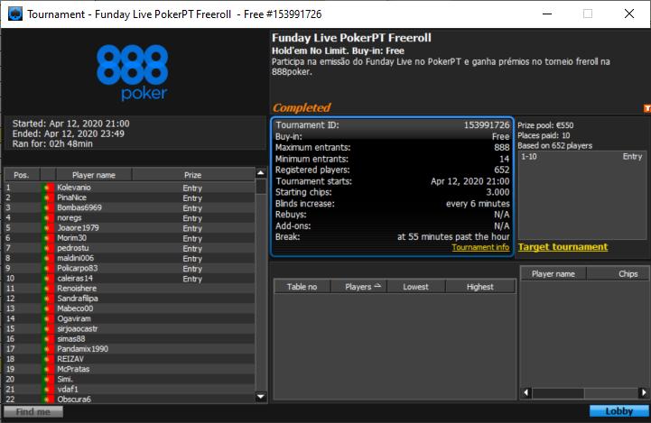 10 apurados PokerPT