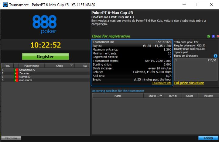 Etapa#5 PokerPT 6Max