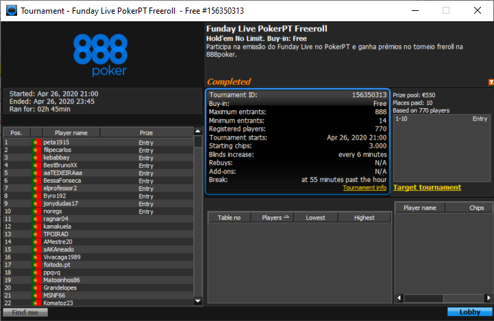 Blocodabarra Funday Live Freeroll
