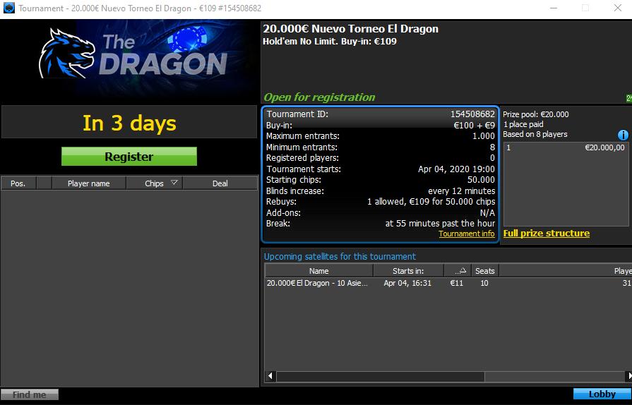El Dragon - 888poker