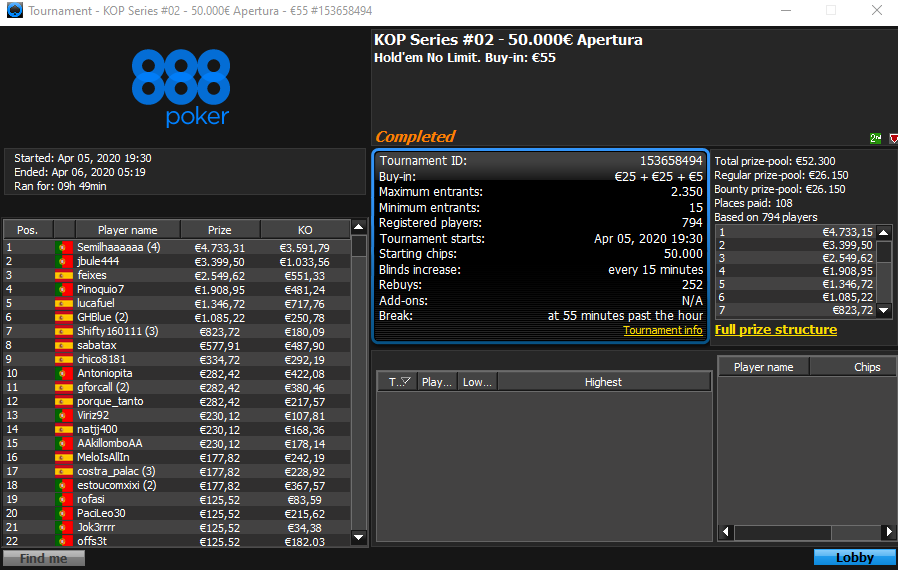 KOP Series #2 - 888poker