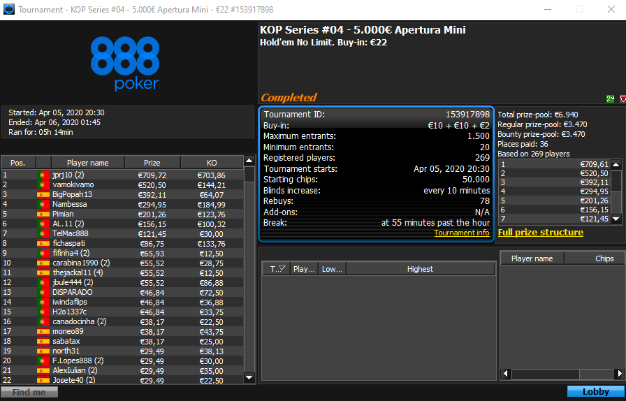 KOP Series #4 - 888poker