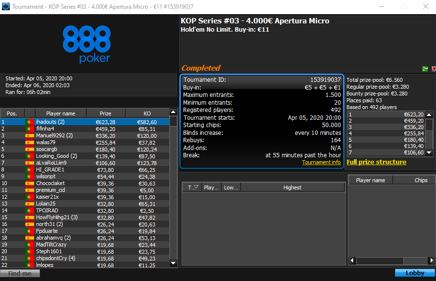 KOP Series 3 - 888poker