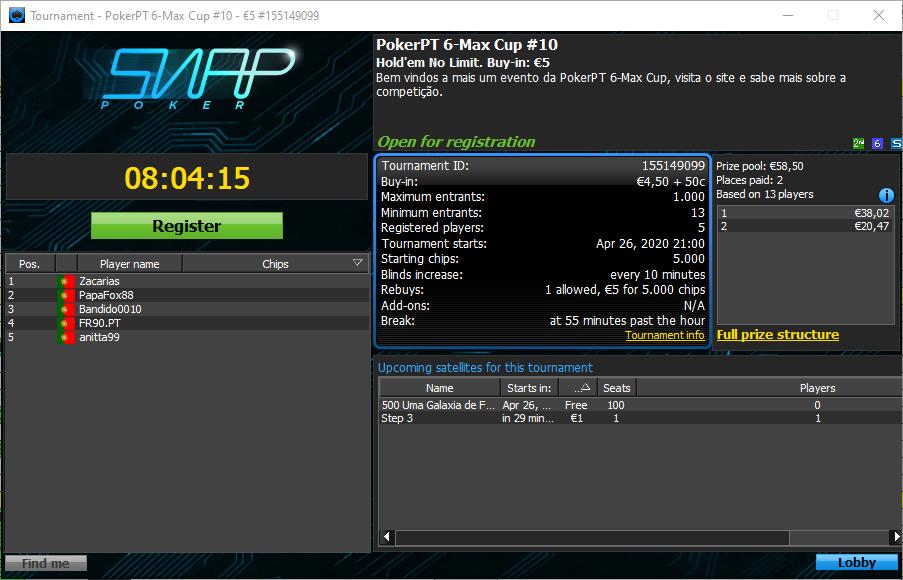 PokerPT 6-MaxCup #10