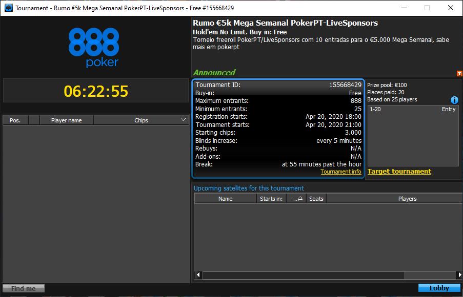 Rumo €5K Mega Semanal PokerPT