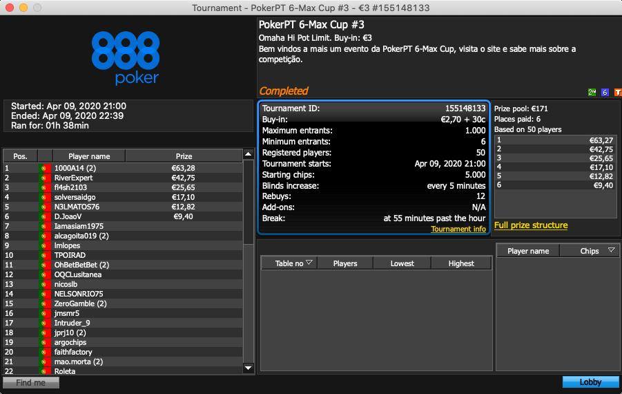 pokerpt 6-max cup etapa 3
