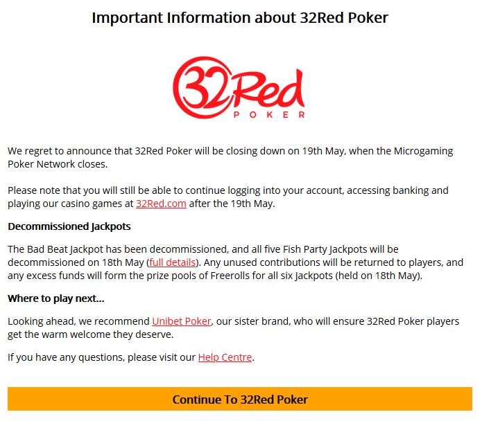 32Red Poker anuncio