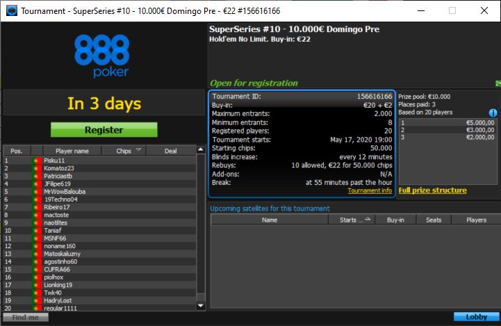 SuperSeries#10 PokerPT