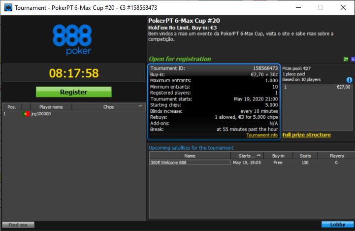 PokerPT 6Max Cup #20