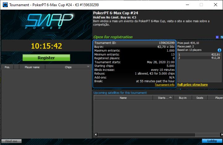 etapa#24 PokerPT 6Max Cup
