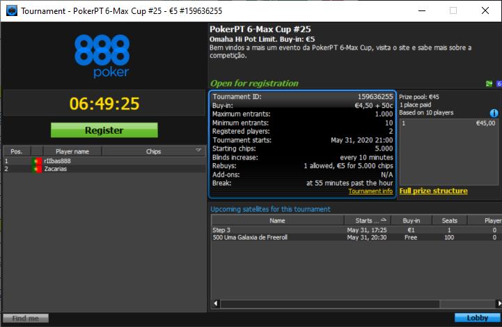 PokerPT 6Max Cup #25