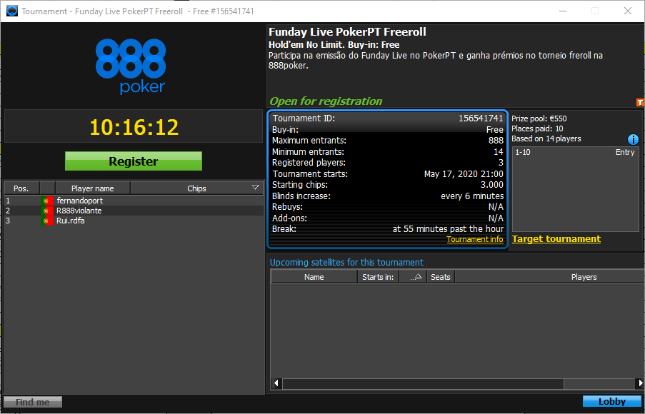 Funday Live Freeroll