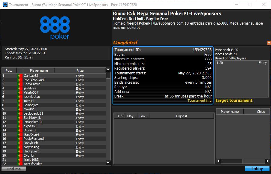 Rumo $5K Mega Semanal PokerPT