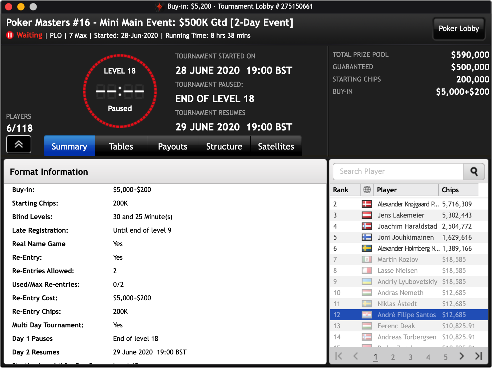 main event poker masters online plo