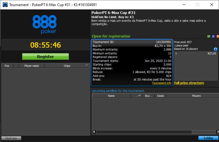PokerPT 6Max Cup regresso
