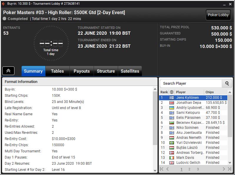 Poker Masters #03 - High Roller