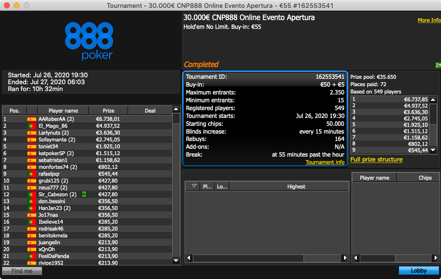 888poker CNP Opening Event