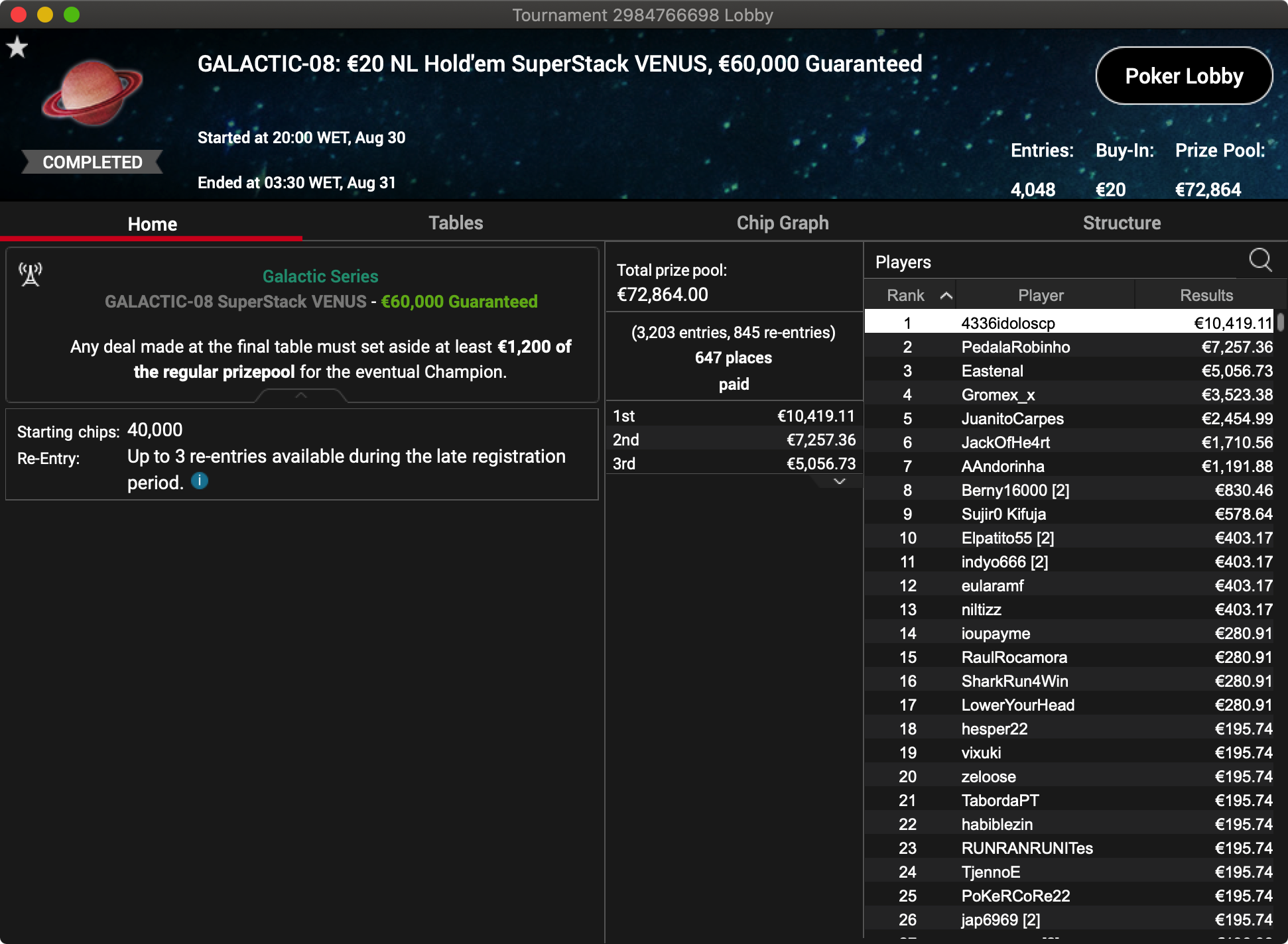 PokerStars Galactic Series - Evento #8